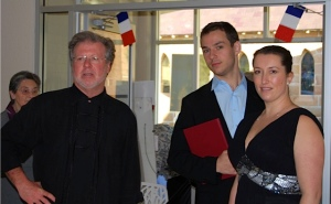 Music Director Christopher Bowen and soloists Elke Hook and Daniel Macey