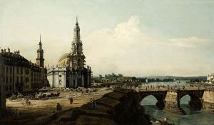 View of Dresden from the Left Shore of the Elbe - Bernardo Bellotto