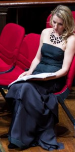 A moment of contemplation - Celeste Lazarenko at the Sydney Town Hall, Verdi Requiem, 2013