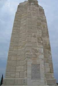 "Memorial at Chunuk Bair to the New Zealand forces. The inscription reads 'In honour of the soldiers of the New Zealand Expeditionary Force 8th August 1915. ""To the uttermost ends of the earth"".' (Image courtesy R O'Neale)"