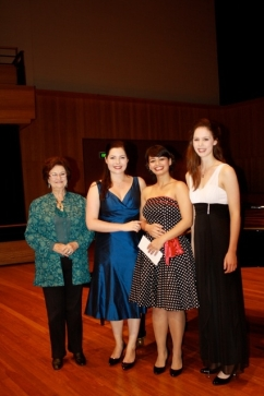 Joan Carden with Amy Corkery, Agnes Sarkis and Anna Dowsley - Joan Carden Award 2012.