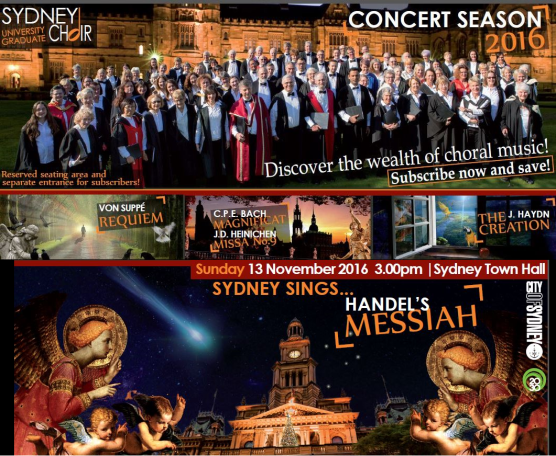 Sydney University Graduate Choir - 2016 subscription series